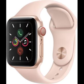 Apple Apple Watch - Series 5 - 44mm - Cellular - Gold Aluminum/Pink Sport Band