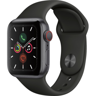 Apple Apple Watch - Series 5 - 44mm - Cellular - Space Gray Aluminum/Black Sport Band