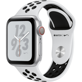 Apple Apple Watch NIKE+ - Series 4 - 40mm - Cellular - Silver Aluminum/Pure Platinum & Black Sport Band