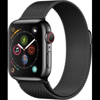 Apple Apple Watch - Series 4 - 40mm - Cellular - Space Black Stainless Steel/Space Black Milanese Loop