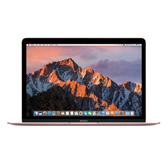 "Apple MacBook Retina 12"" Laptop - 1.1GHz Dual-Core M3 - 8GB RAM - 256GB SSD - (2016) - Rose Gold"