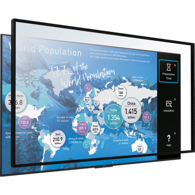 """65"""" Sony MULTI-TOUCH OVERLAY KIT FOR 65"""" Bravia 4K COMMERCIAL DISPLAY - (STP-65IR100)"""