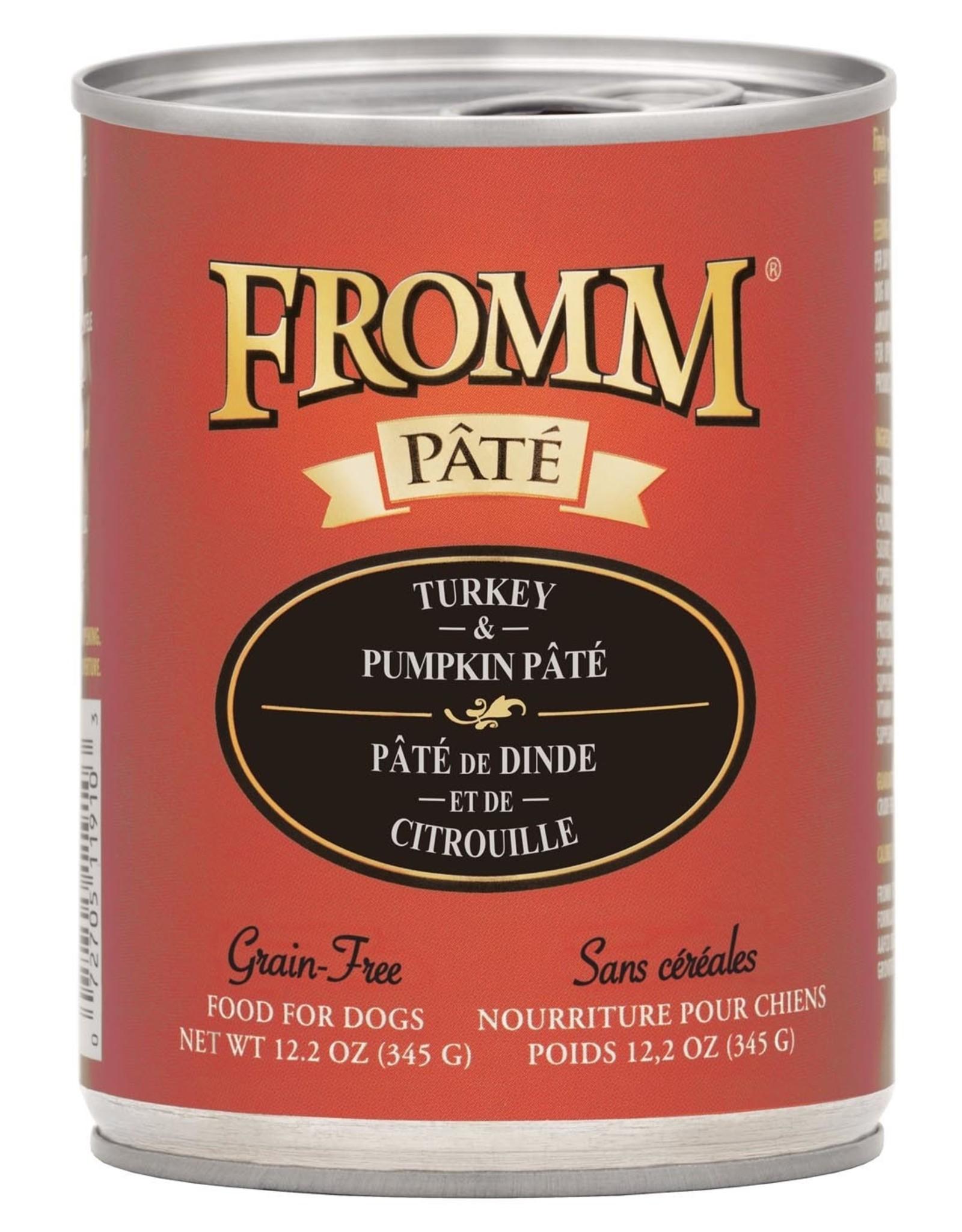 Fromm Fromm Grain Free Turkey & Pumpkin Pate: Can, 12.2 oz