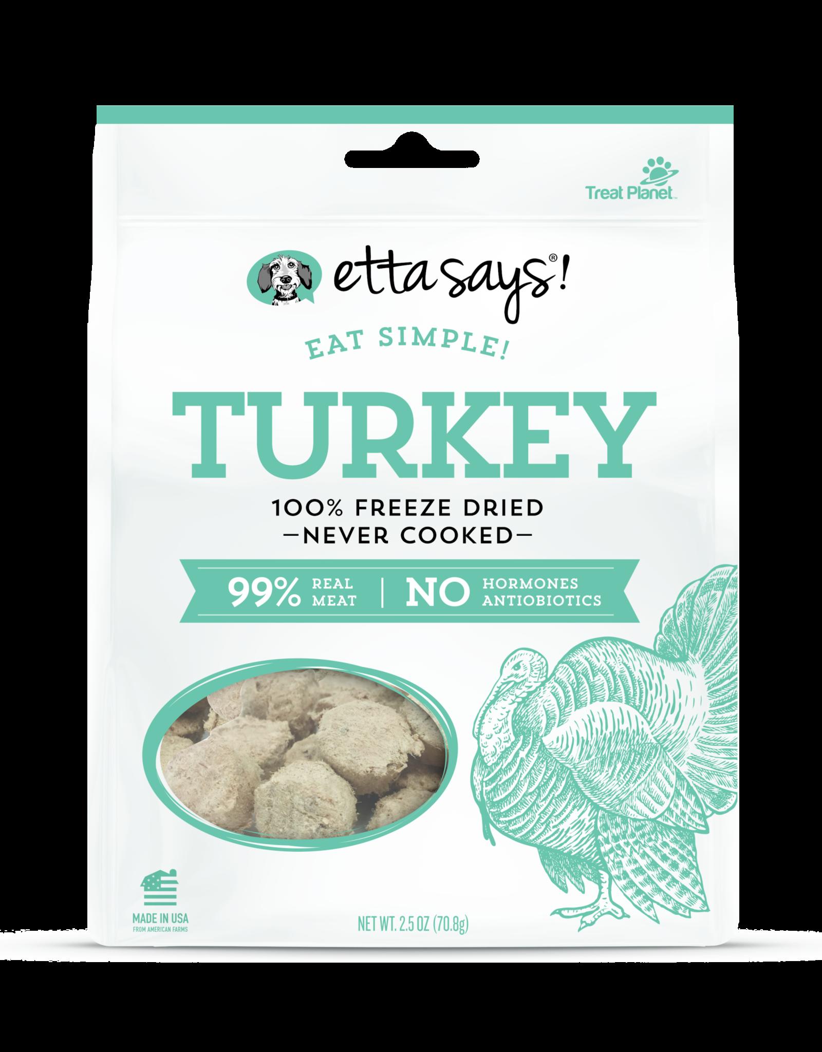 Etta Says Etta Says! Eat Simple! Freeze Dried: Turkey, 2.5 oz