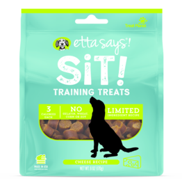 Etta Says Etta Says! Sit! Training Treat: Cheese, 6 oz