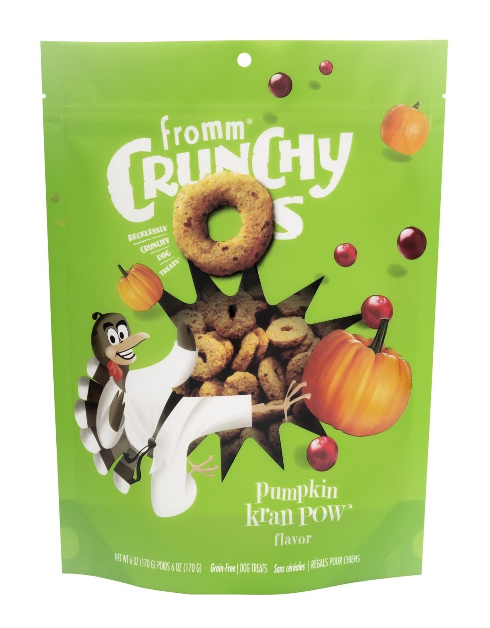 Fromm Fromm Crunchy O's: Pumpkin Kran Pow, 6 oz