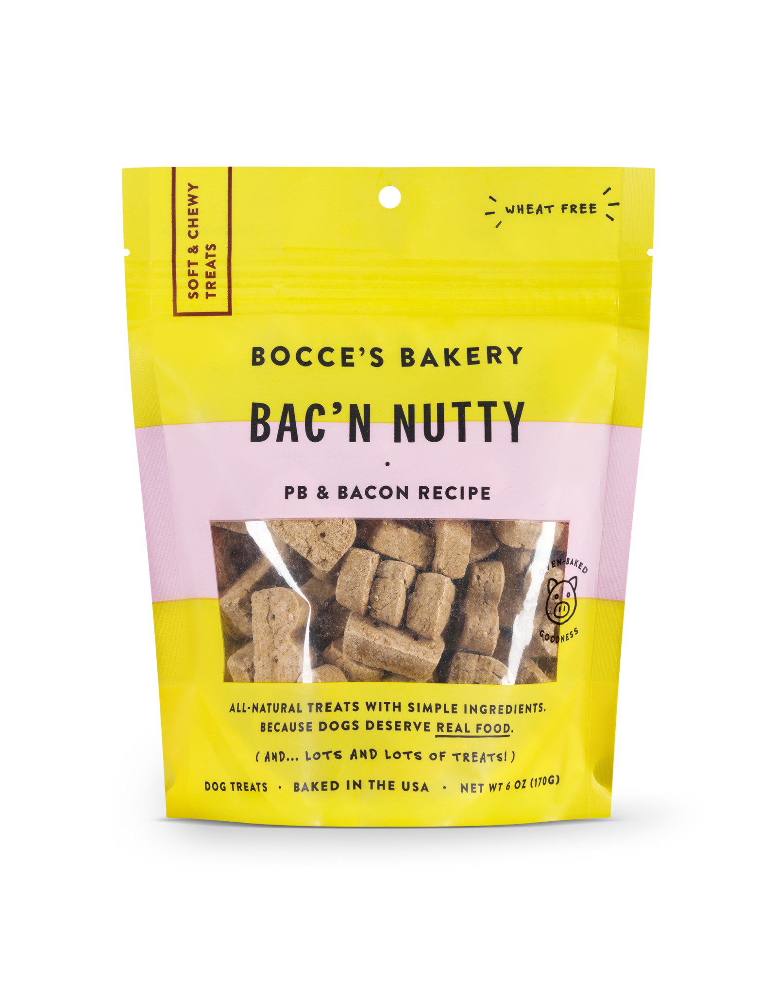Bocce's Bakery Bocce's Bakery: Soft & Chewy Bac N' Nutty, 6 oz