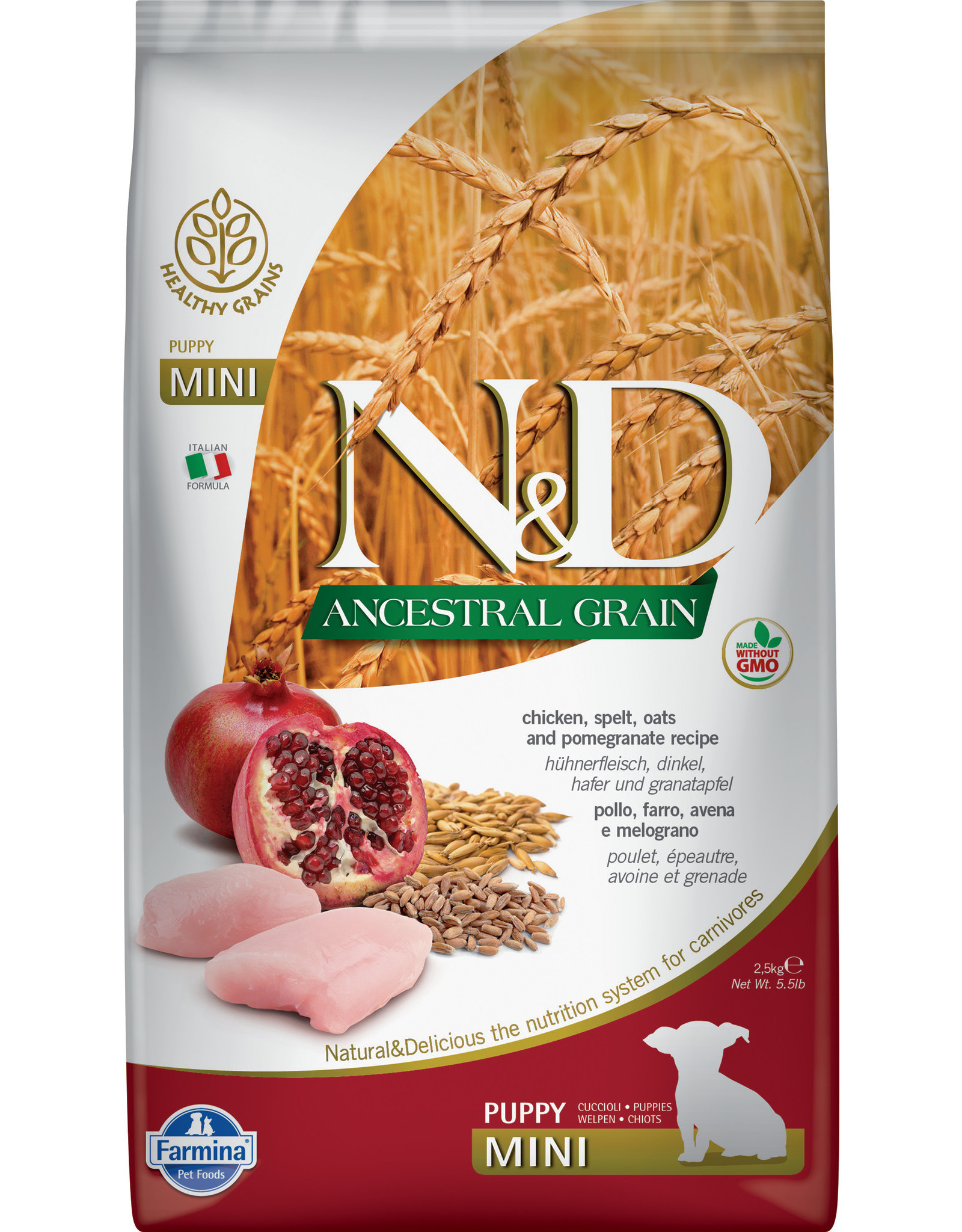 Farmina Farmina Ancestral Grain: Chicken & Pom Puppy