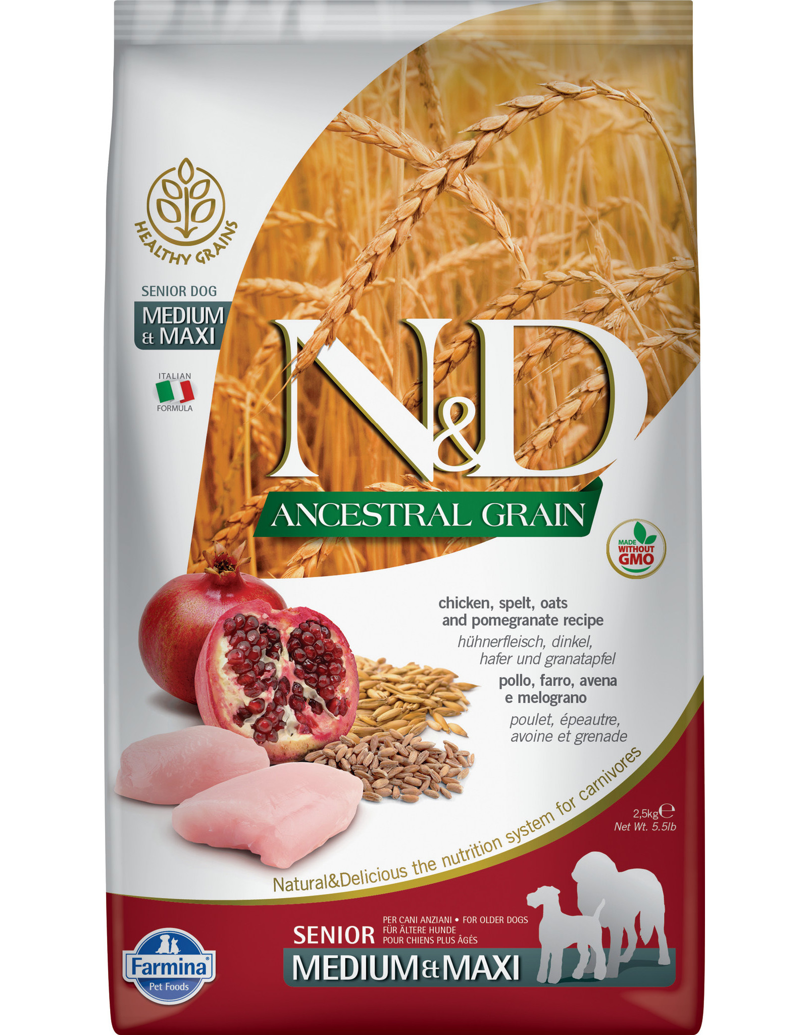 Farmina Farmina Ancestral Grain: Chicken & Pom Senior