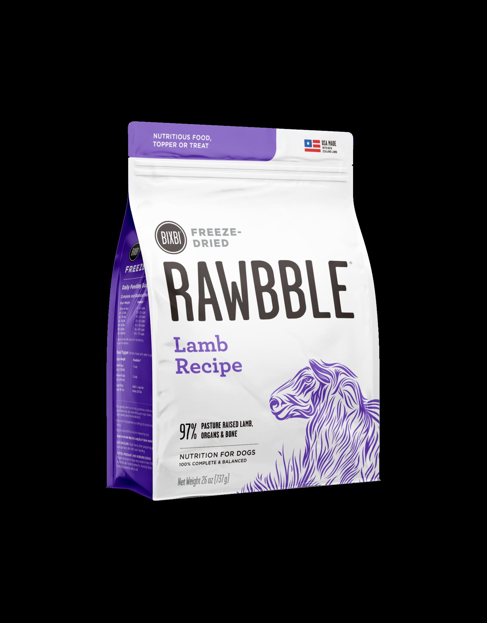 Bixbi Bixbi Rawbble Freeze Dried: Lamb