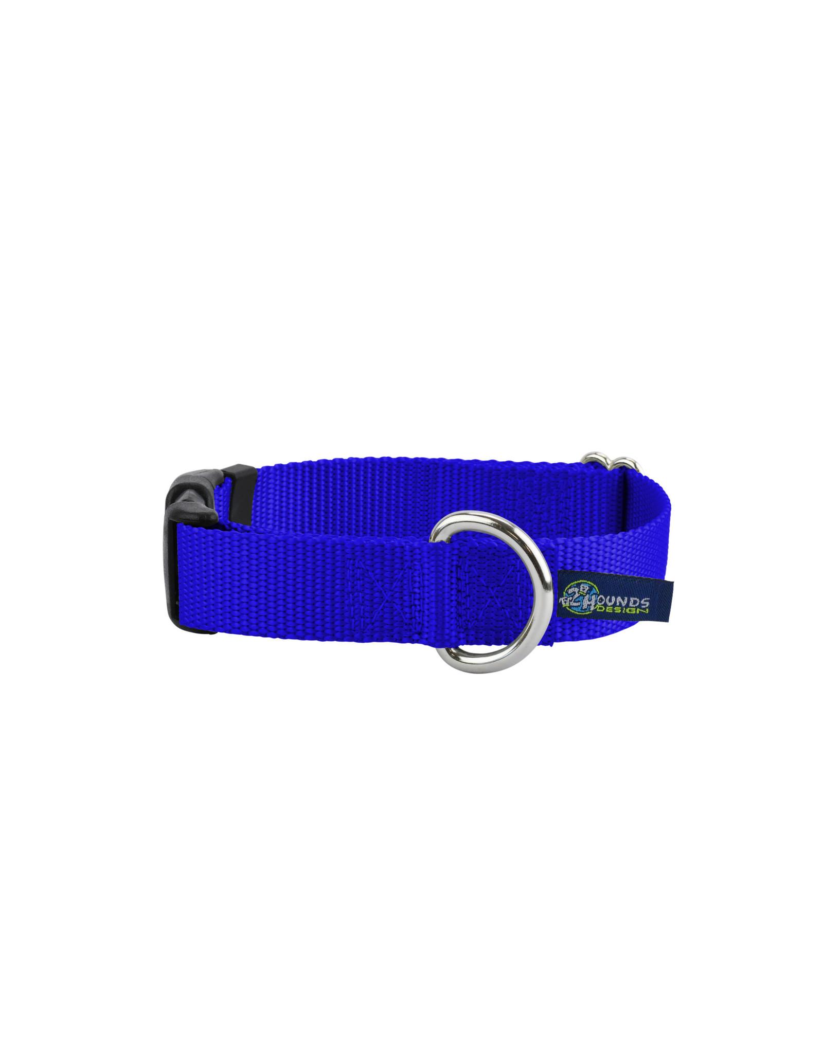 "2 Hounds Design Buckle Collar: Royal Blue, 5/8"" XS"