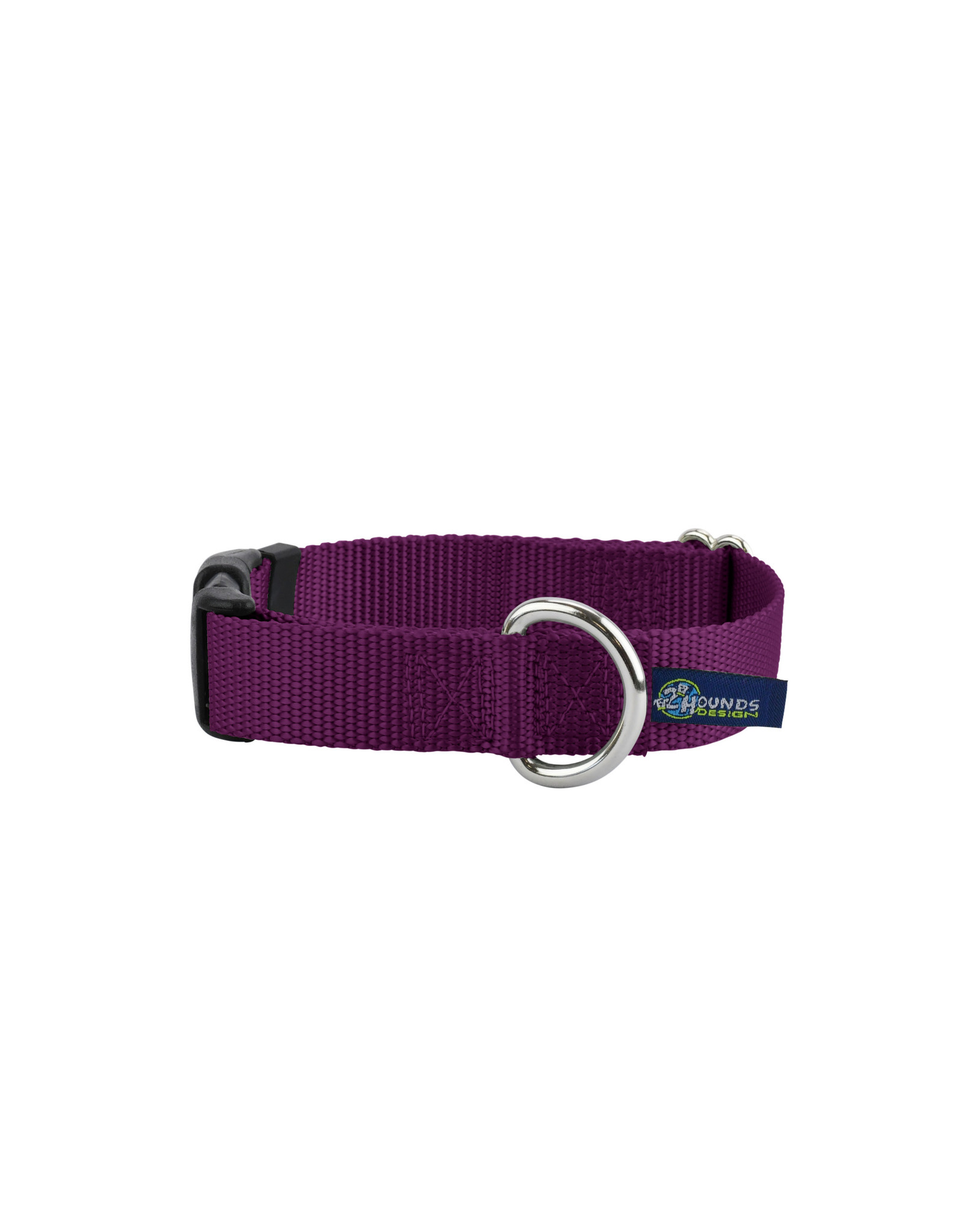 "2 Hounds Design Buckle Collar: Burgundy, 5/8"" M"