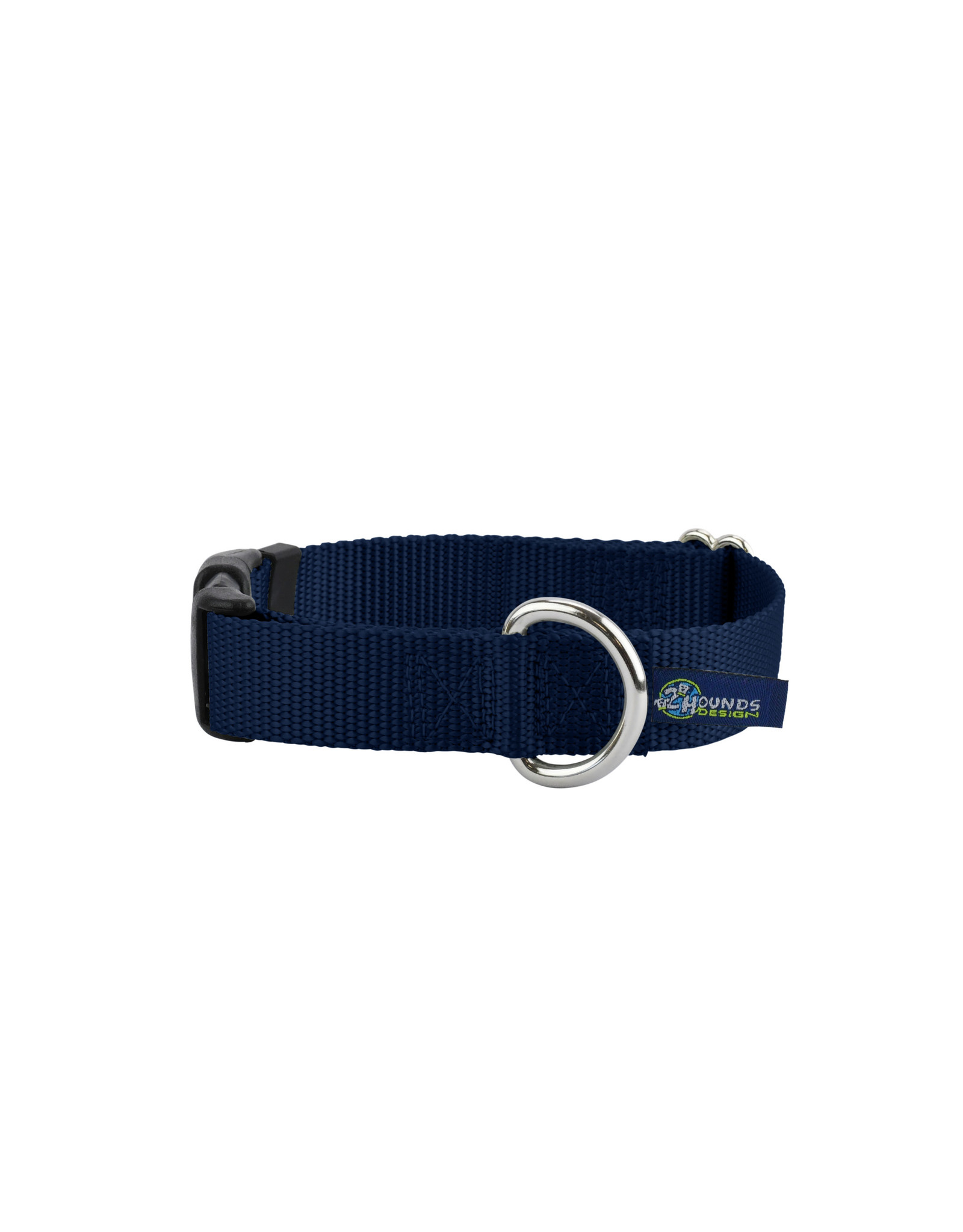 "2 Hounds Design Buckle Collar: Navy Blue, 1"" M"