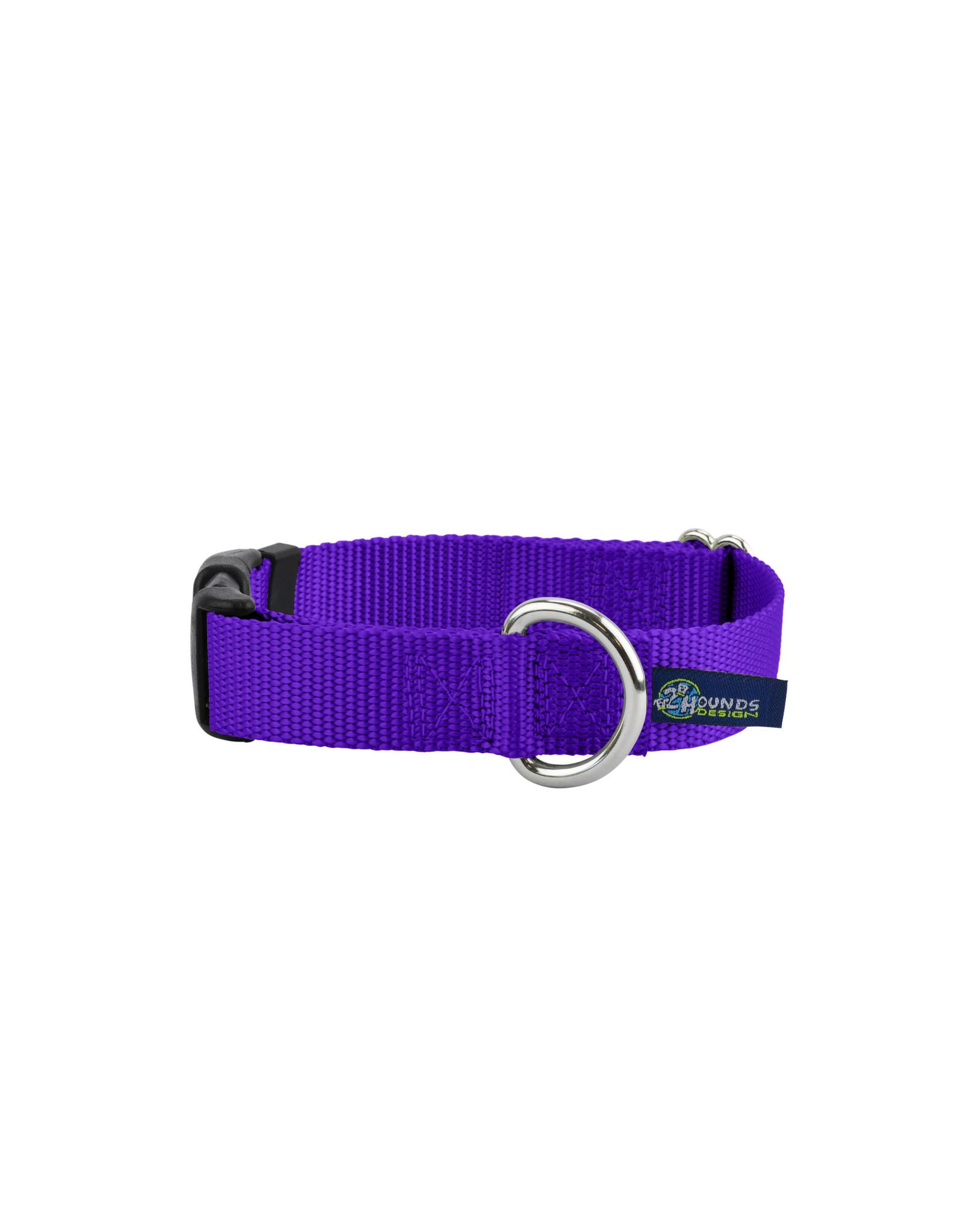 "2 Hounds Design Buckle Collar: Purple, 5/8"" M"