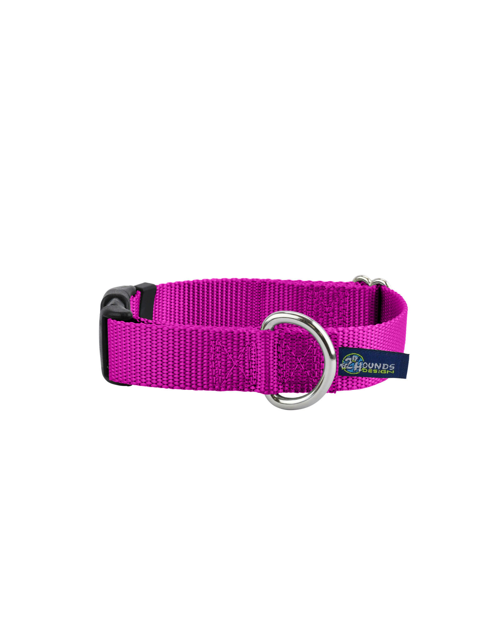 "2 Hounds Design Buckle Collar: Raspberry, 1"" L"