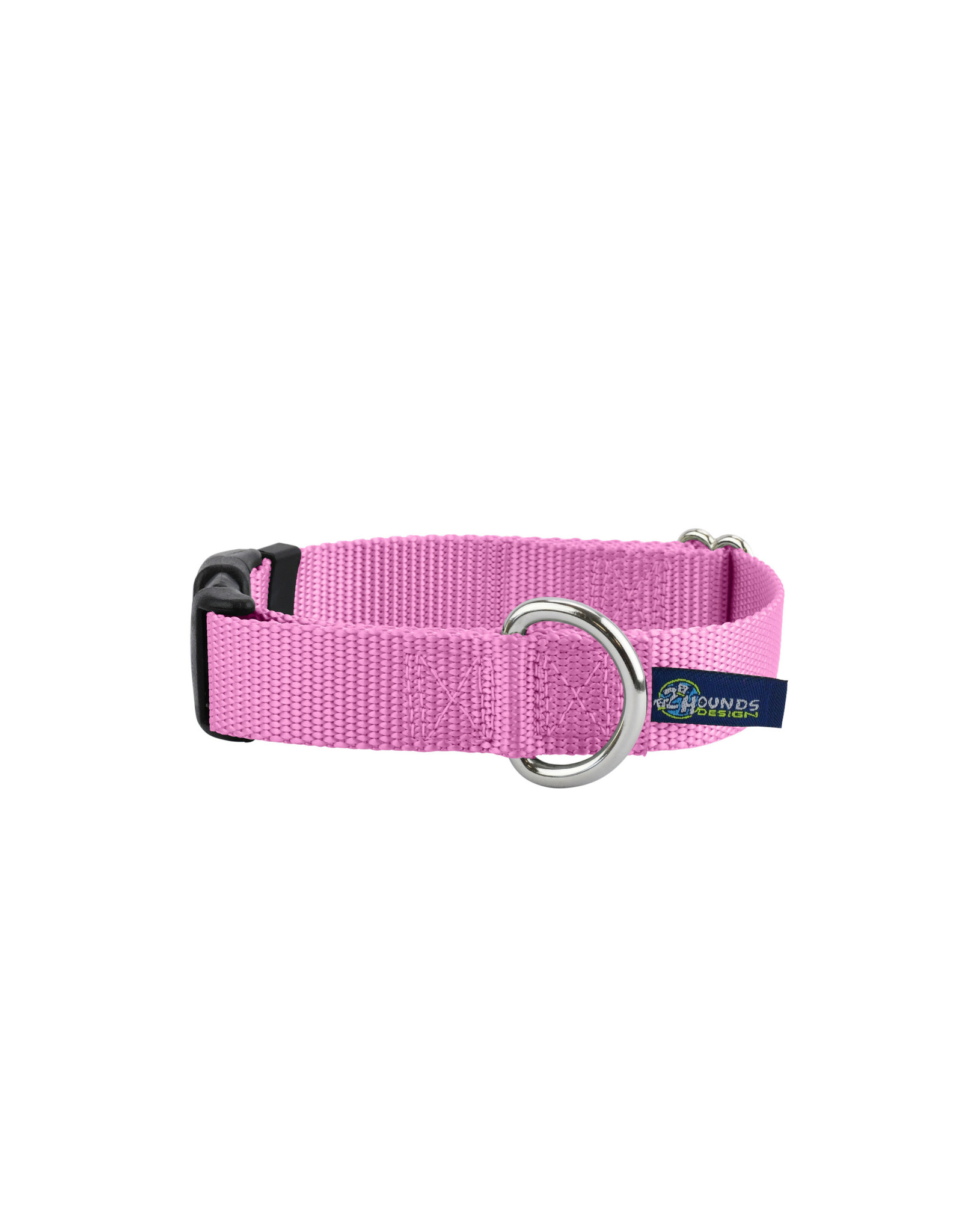 "2 Hounds Design Buckle Collar: Rose Pink, 5/8"" S"