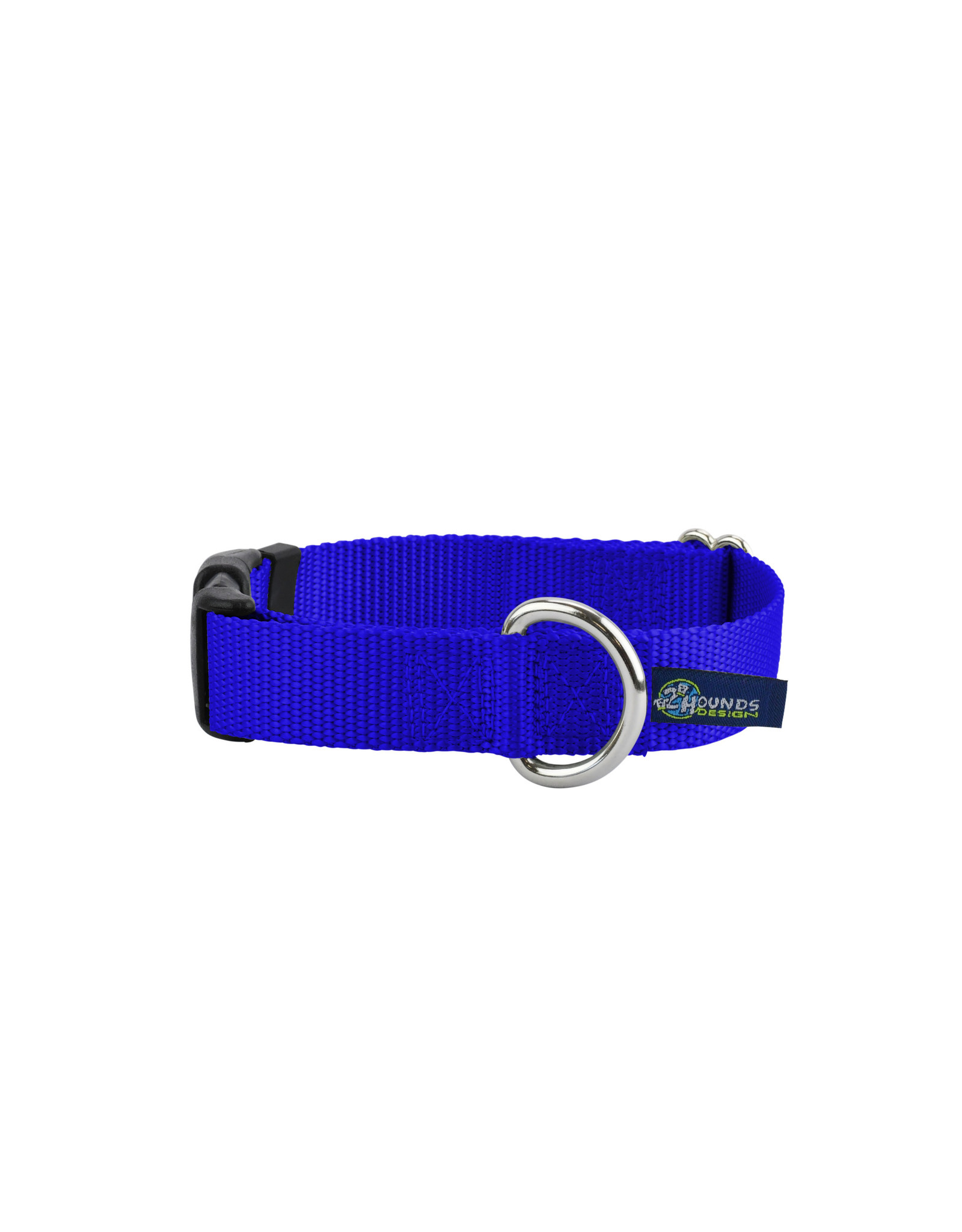 "2 Hounds Design Buckle Collar: Royal Blue, 1.5"" M"