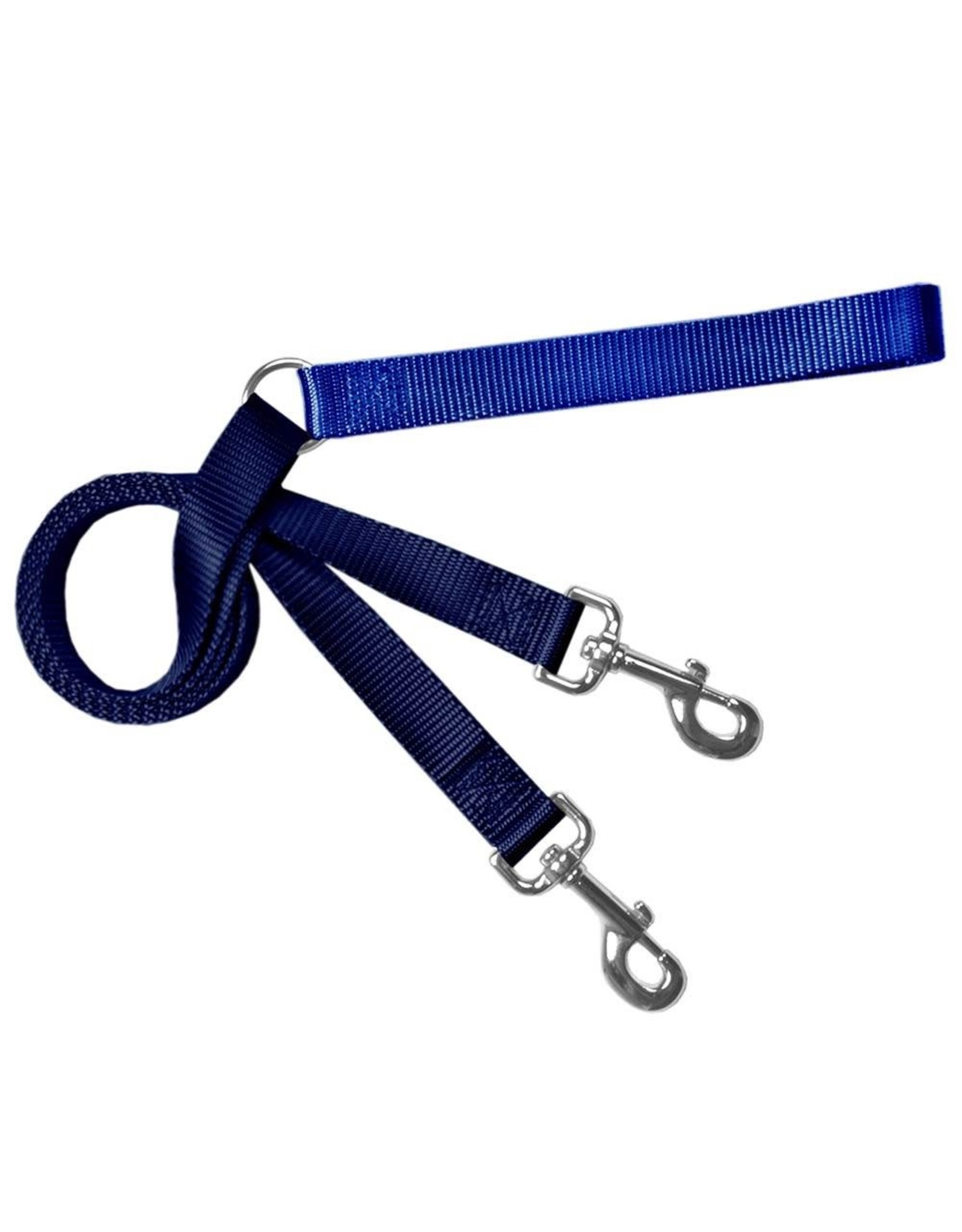 """2 Hounds Design Double Connection Training Lead: Navy, 1"""""""