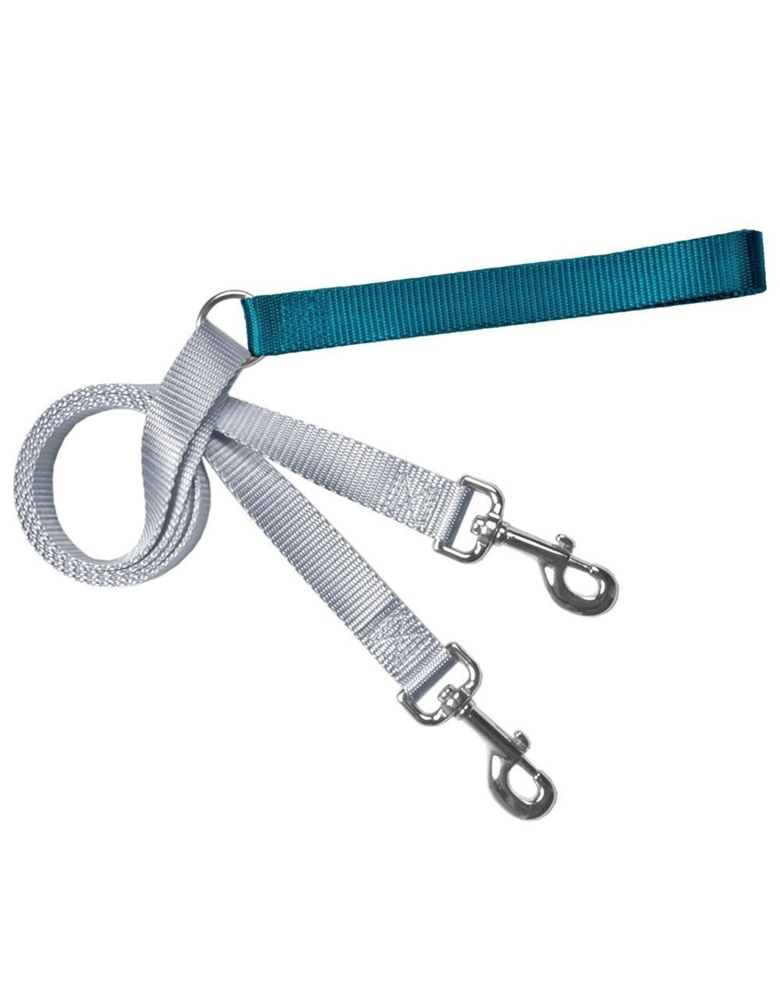 2 Hounds Design Double Connection Training Lead: Teal, 1