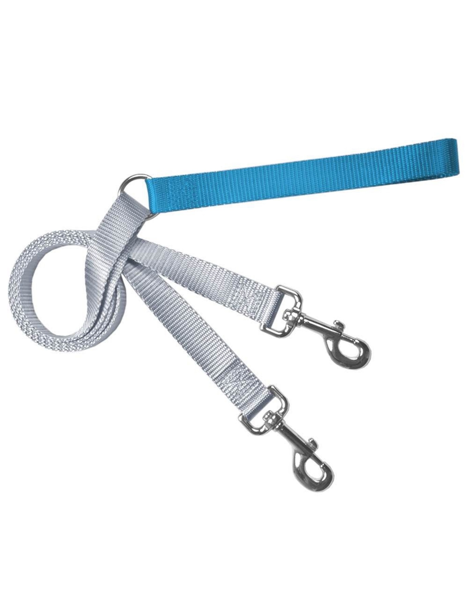 2 Hounds Design Double Connection Training Lead: Turquoise, 1