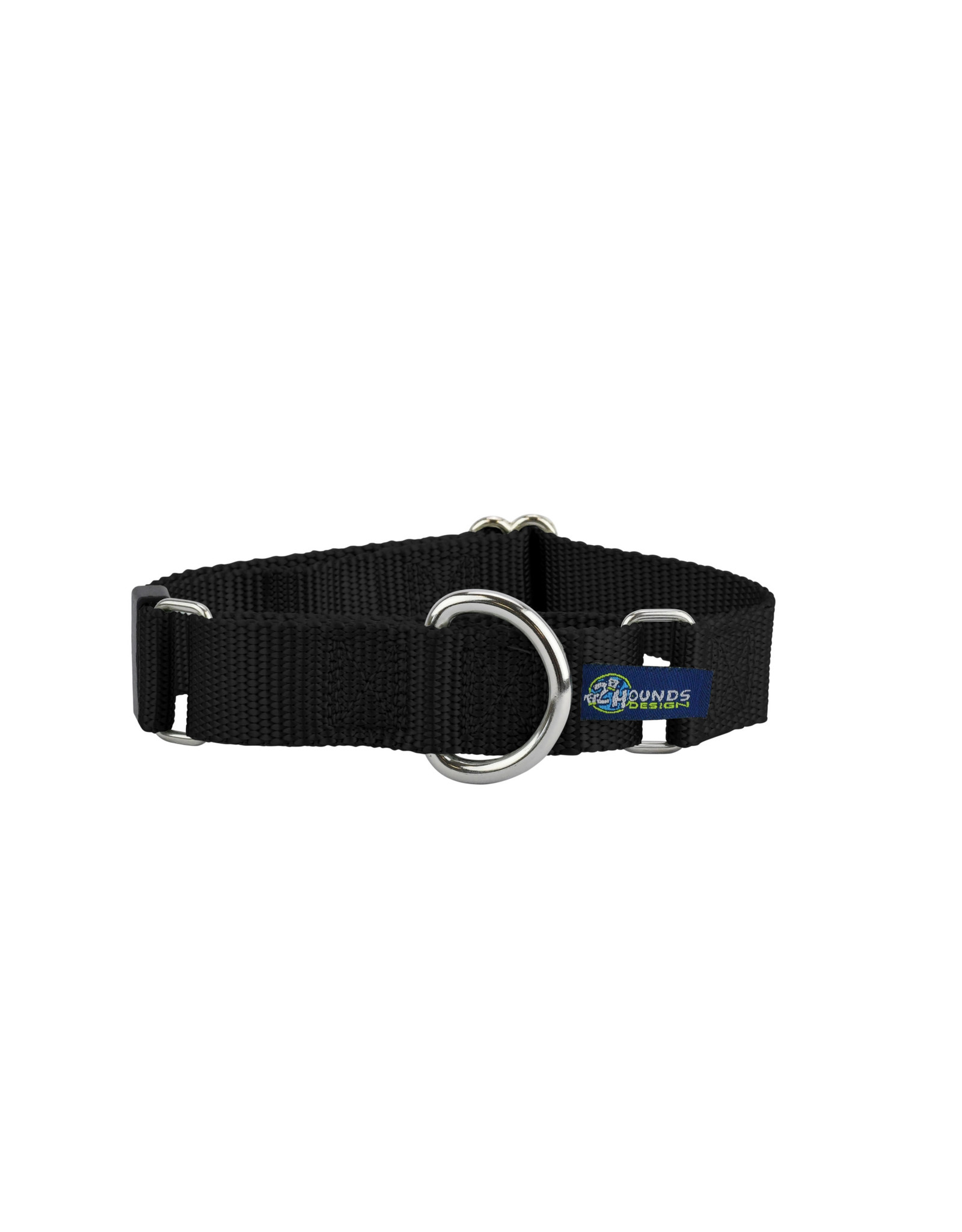"2 Hounds Design Double loop Martingale: Black, 5/8"" XS"
