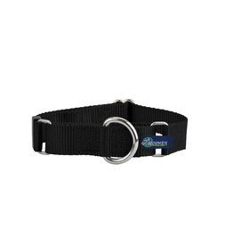 """2 Hounds Design Double loop Martingale: Black, 5/8"""" XS"""