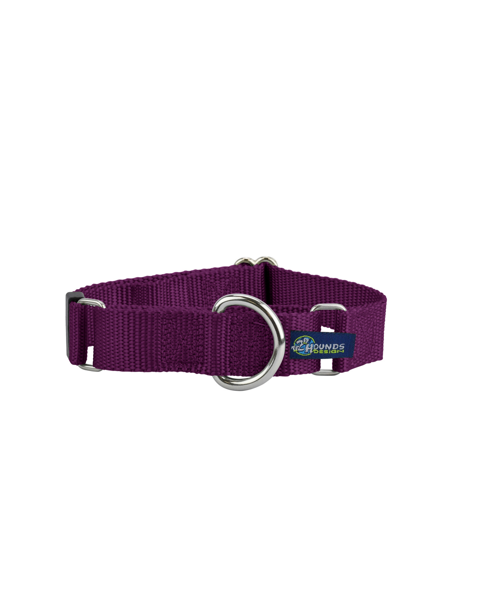 "2 Hounds Design Double loop Martingale: Burgundy, 5/8"" S"
