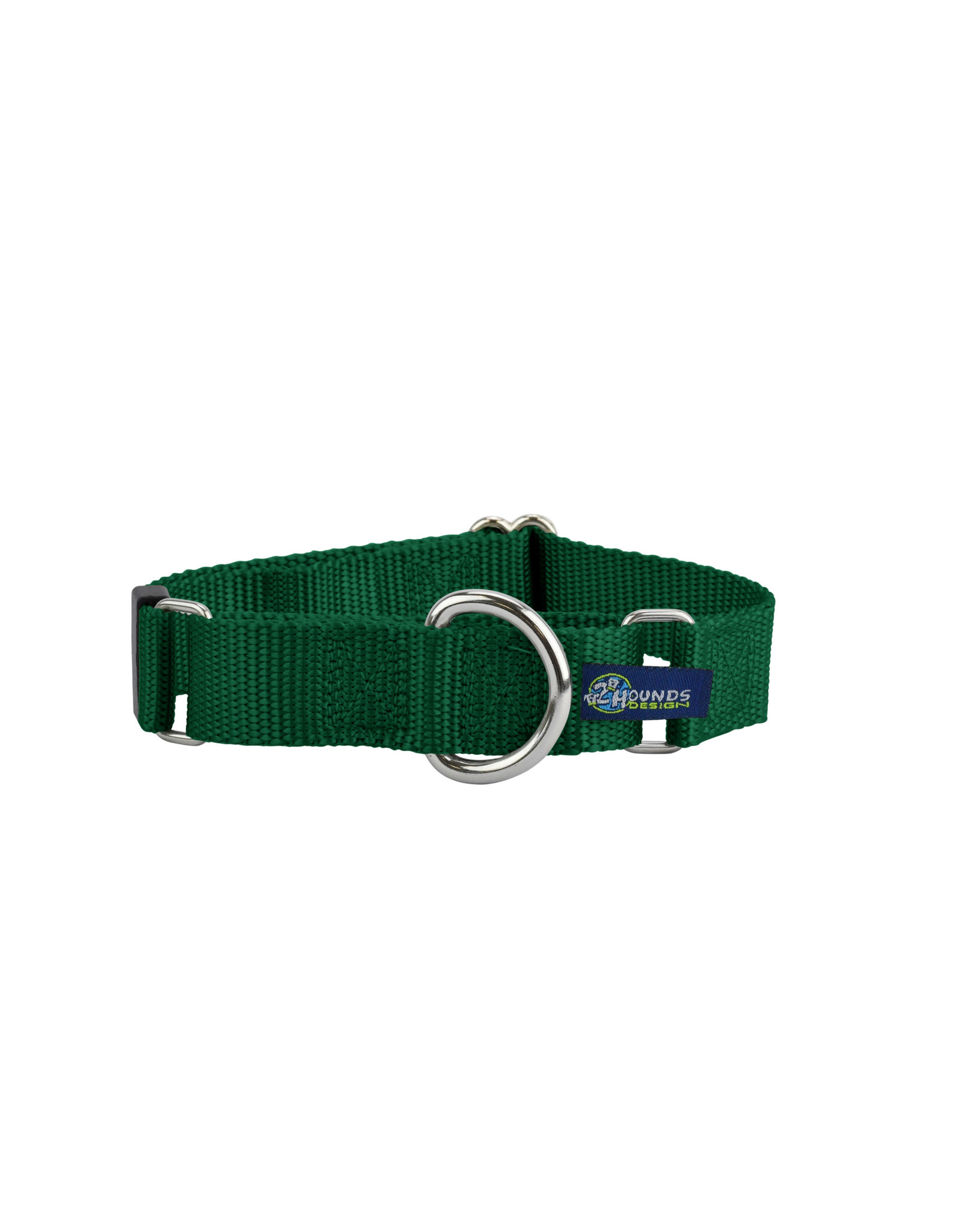 "2 Hounds Design Double loop Martingale: Kelly Green, 1"" L"