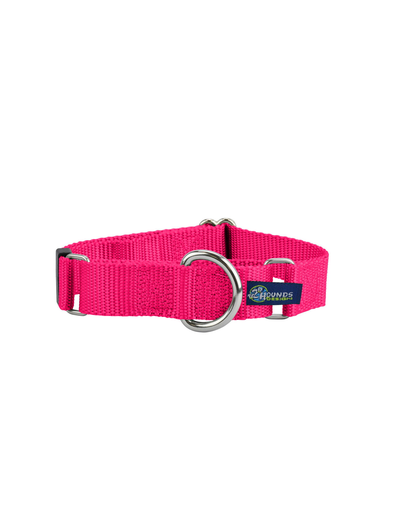 """2 Hounds Design Double loop Martingale: Hot Pink, 5/8"""" XS"""