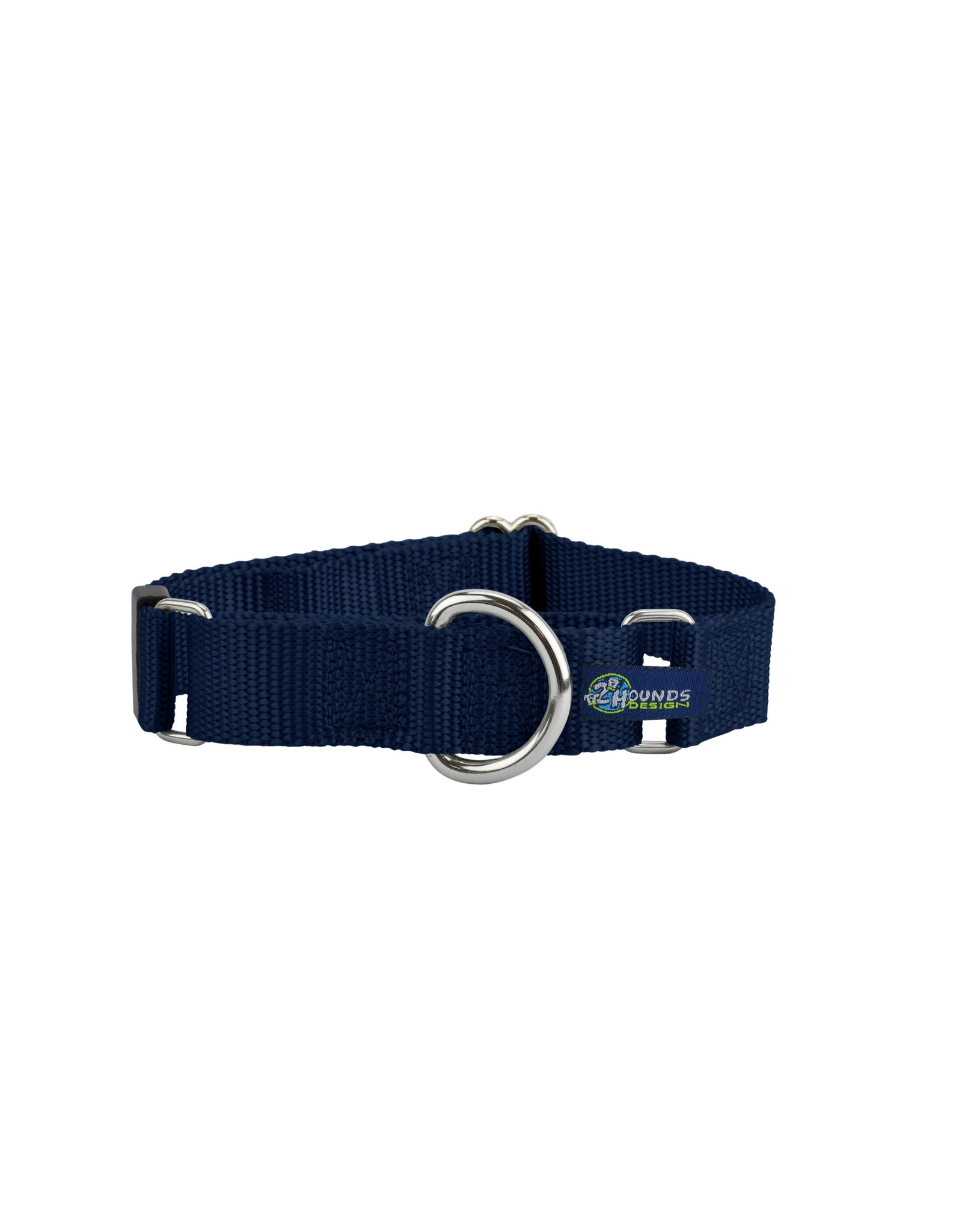 """2 Hounds Design Double loop Martingale: Navy Blue, 5/8"""" S"""