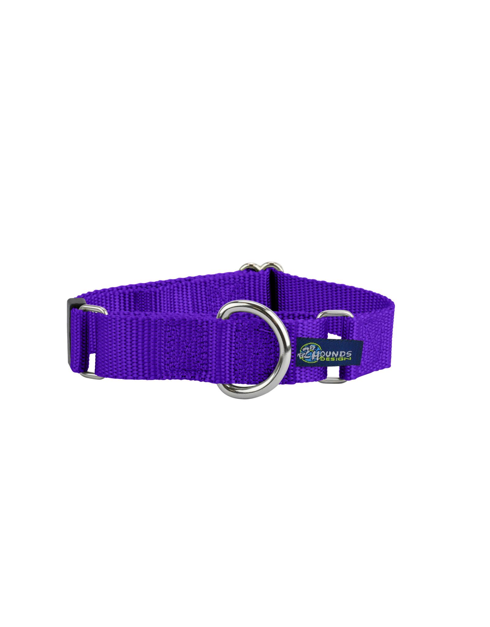 "2 Hounds Design Double loop Martingale: Purple, 5/8"" M"
