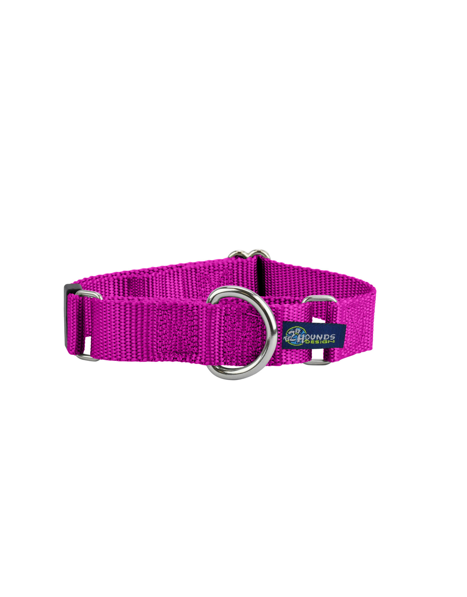 "2 Hounds Design Double loop Martingale: Raspberry, 1"" XL"