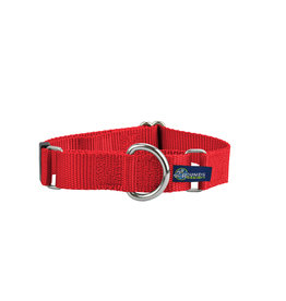 "2 Hounds Design Double loop Martingale: red, 1"" M"