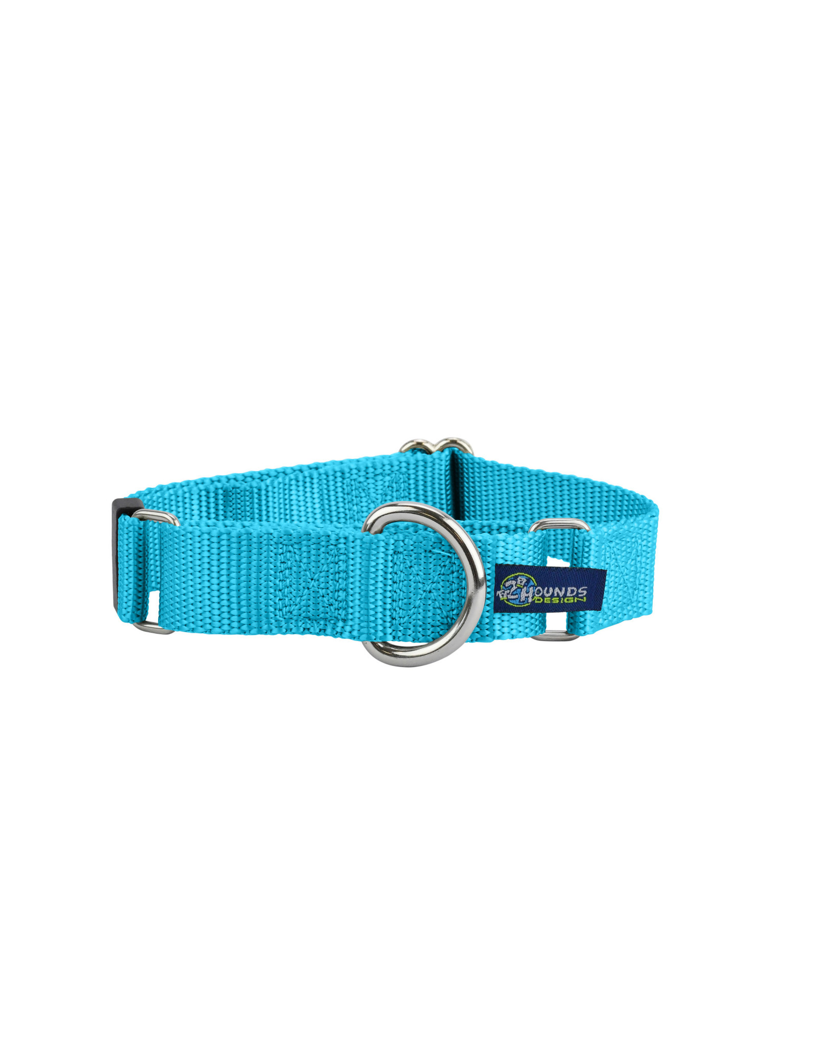 """2 Hounds Design Double loop Martingale: Turquoise, 5/8"""" M"""