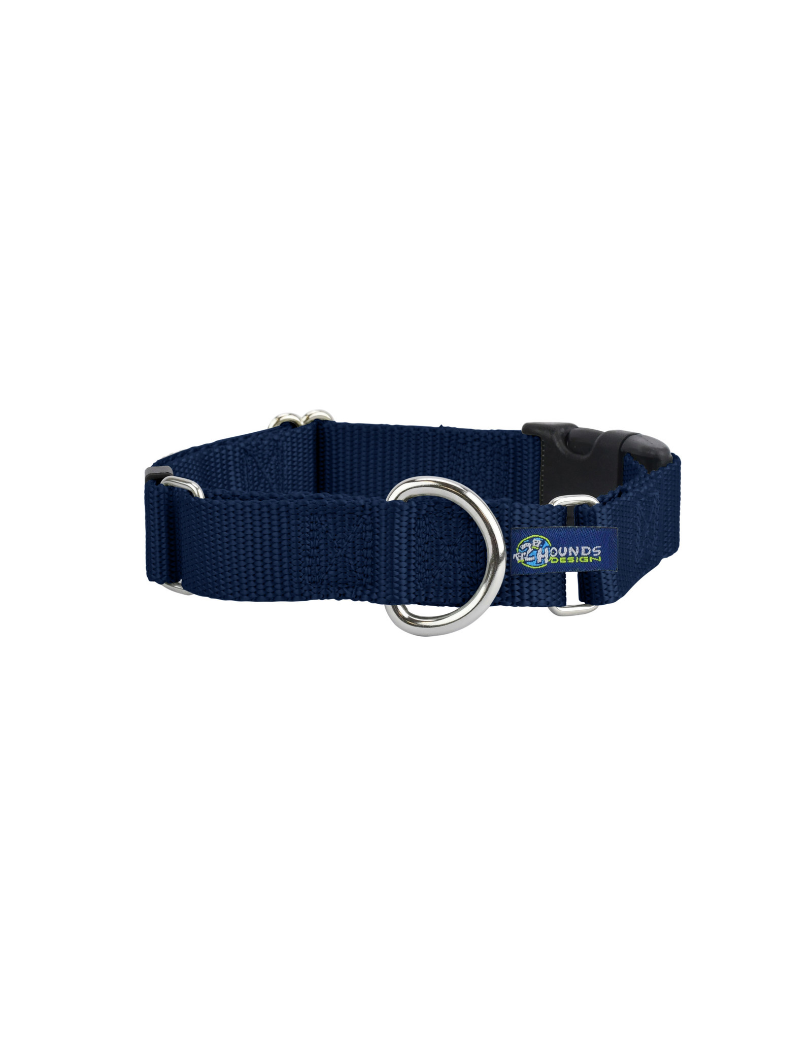 """2 Hounds Design Martingale w/ buckle: Navy, 1"""" M"""