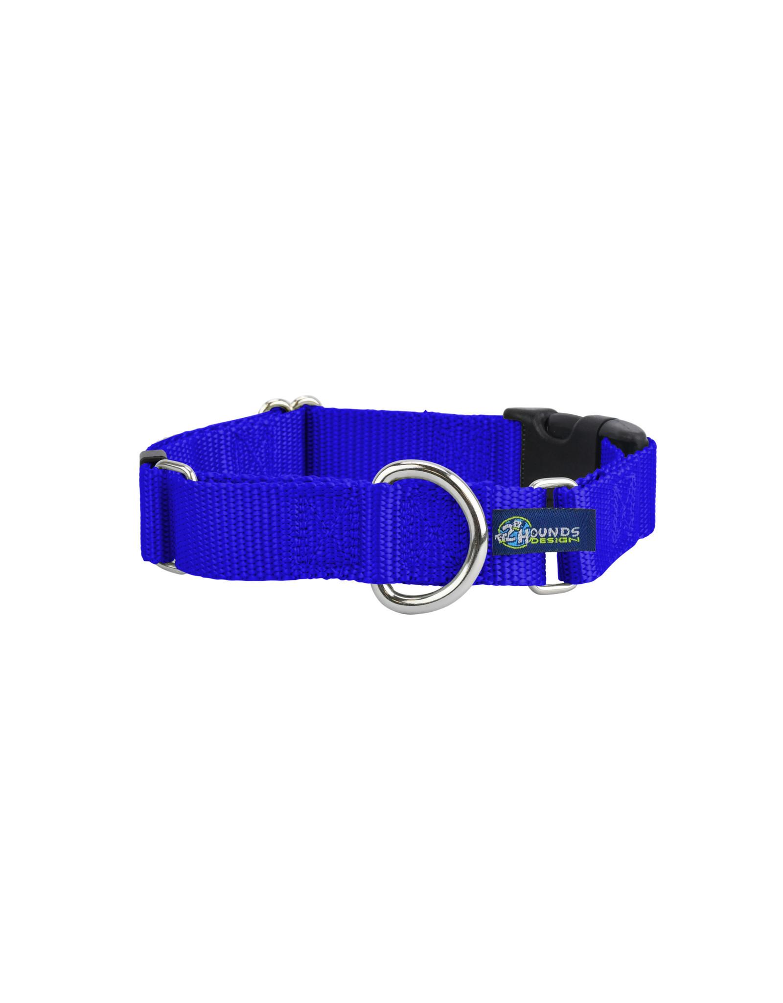 "2 Hounds Design Martingale w/ buckle: Royal Blue, 1.5"" L"