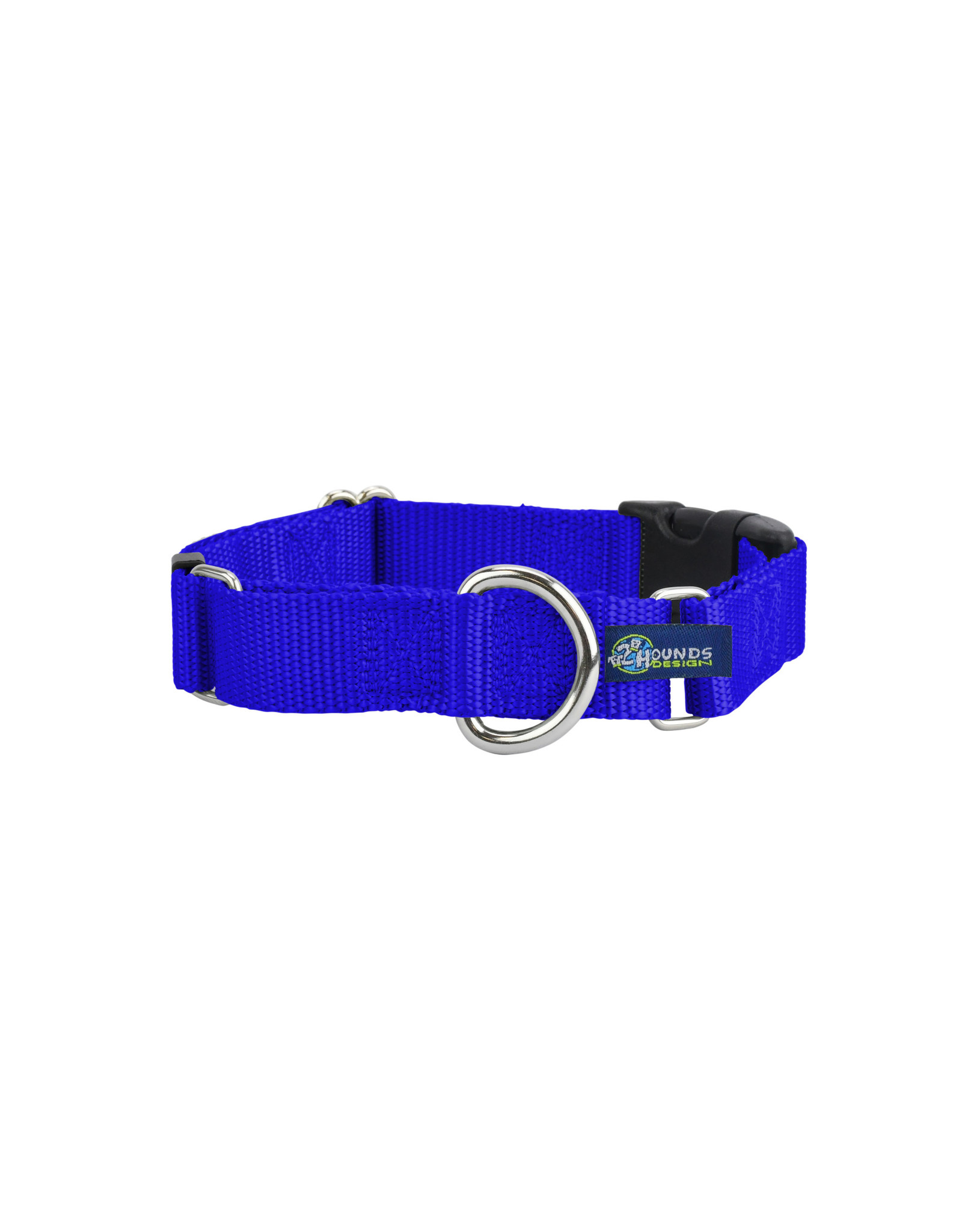 "2 Hounds Design Martingale w/ buckle: Royal Blue, 5/8"" M"