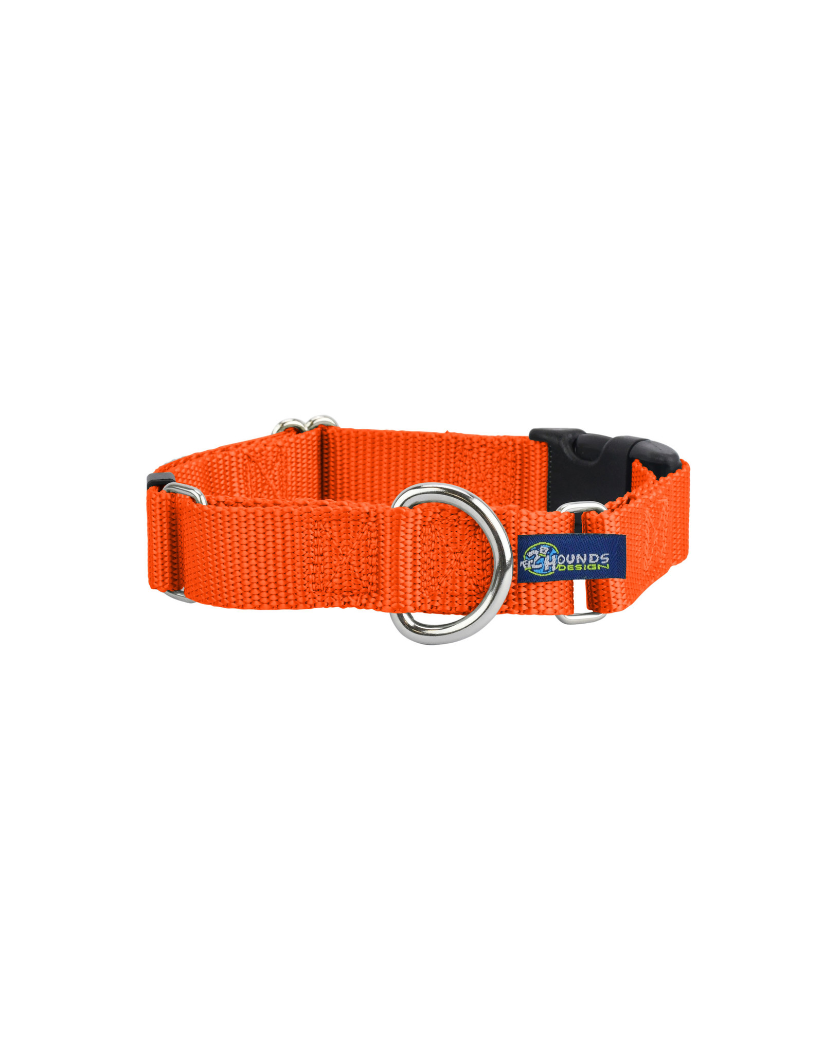 """2 Hounds Design Martingale w/ buckle: Rust, 1"""" M"""