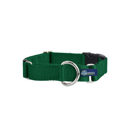 "2 Hounds Design Martingale w/ buckle: Kelly Green, 1.5"" XL"