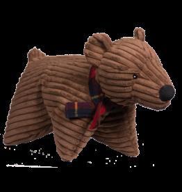 Hugglehounds Original Corduroy Squooshie Brown Bear:, L