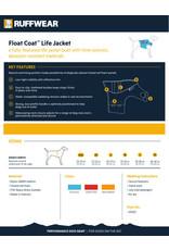 Ruffwear Float Coat: Blue Atoll, XL