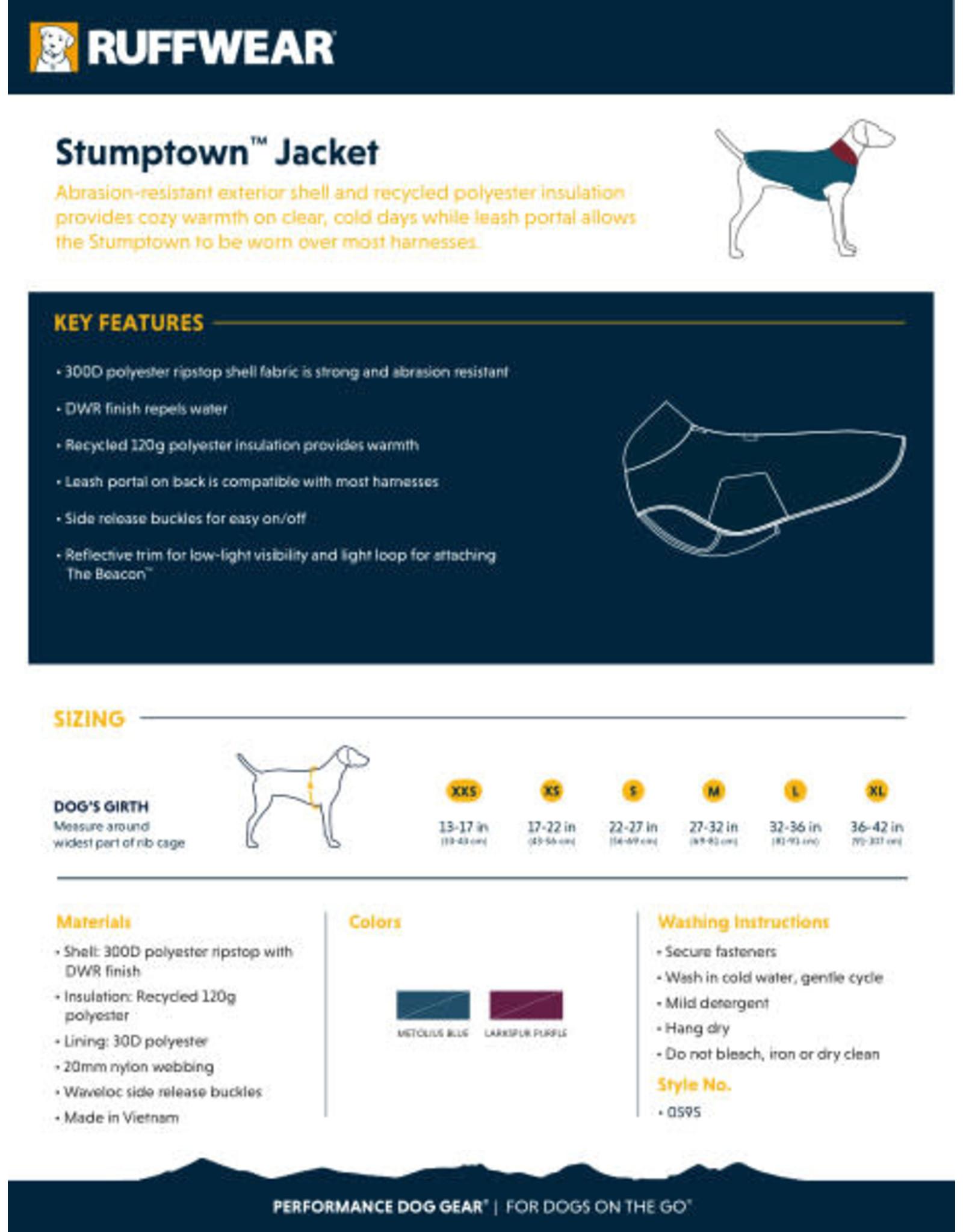 Ruffwear Stumptown Jacket: Metolius Blue, L