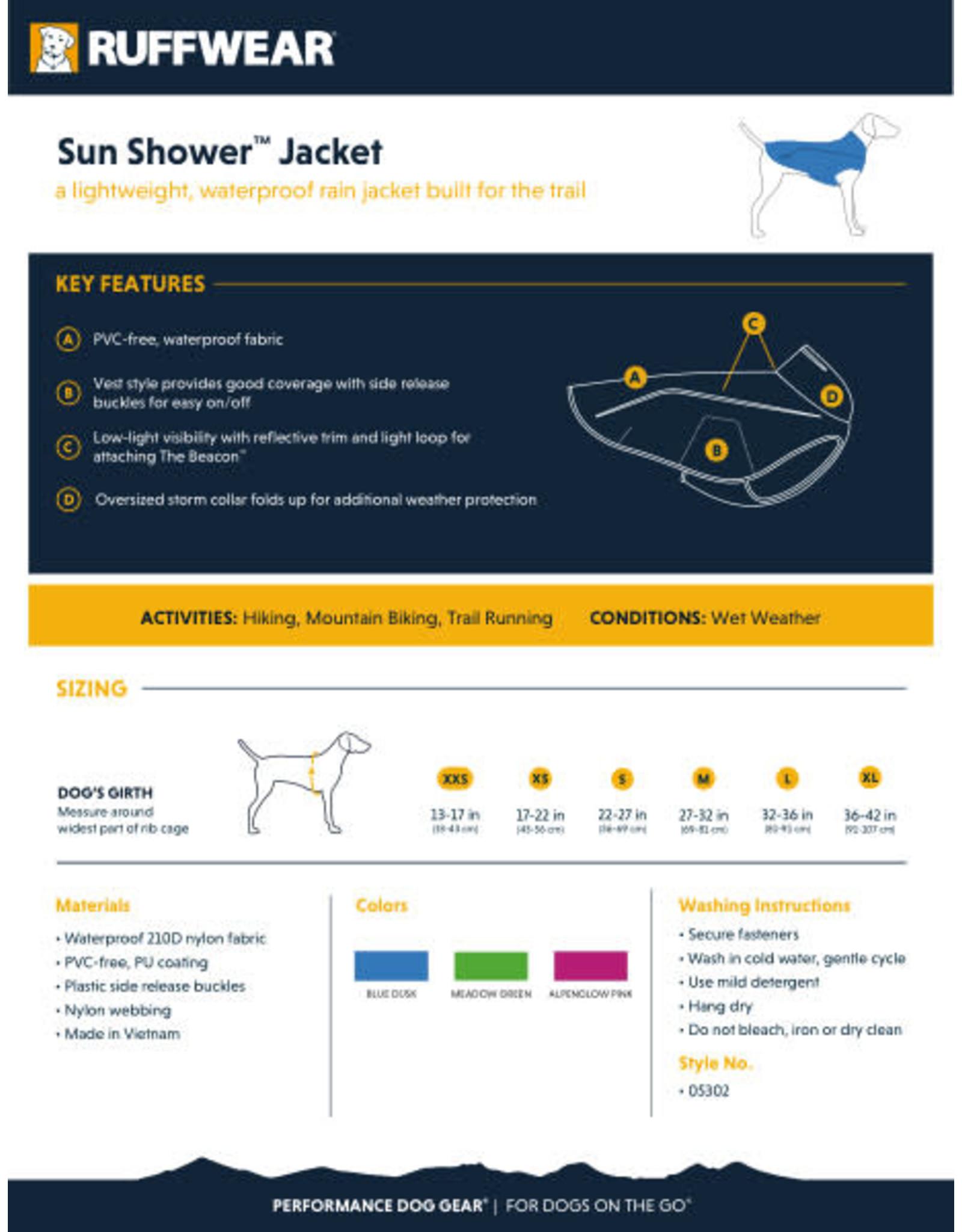 Sun Shower Rain Jacket: Meadow Green, S