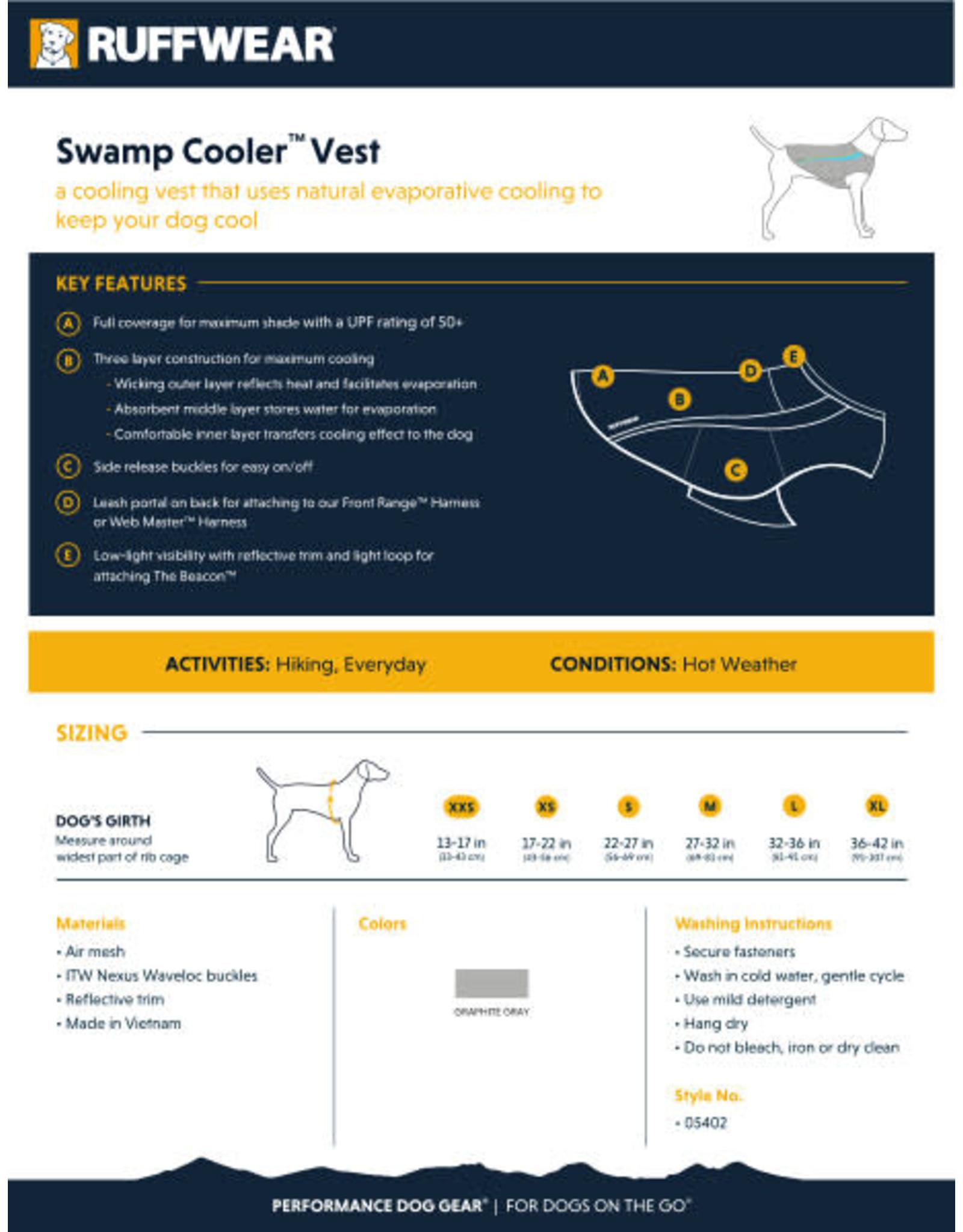 Ruffwear Swamp Cooler: Graphite Gray, M