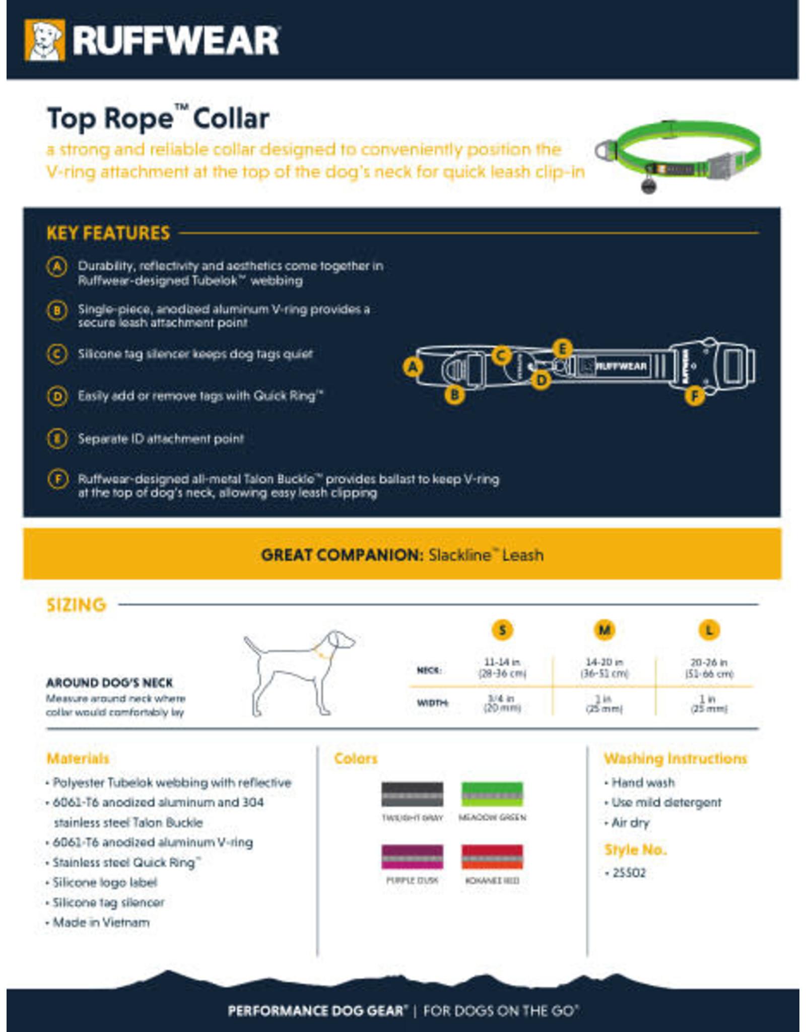 Top Rope Collar: Kokanee Red, L