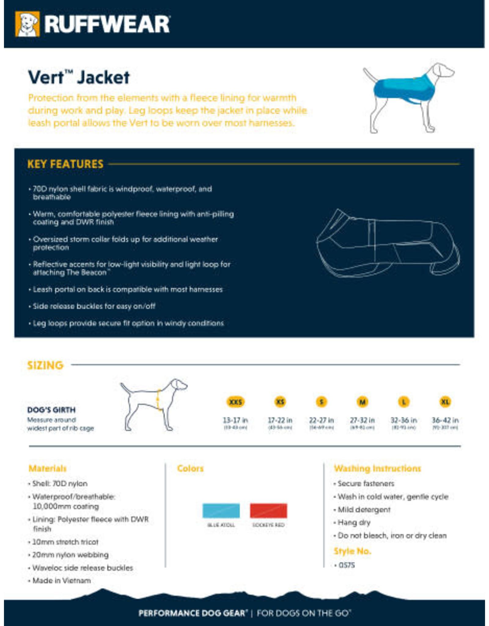 Vert Jacket: Blue Atoll, XS