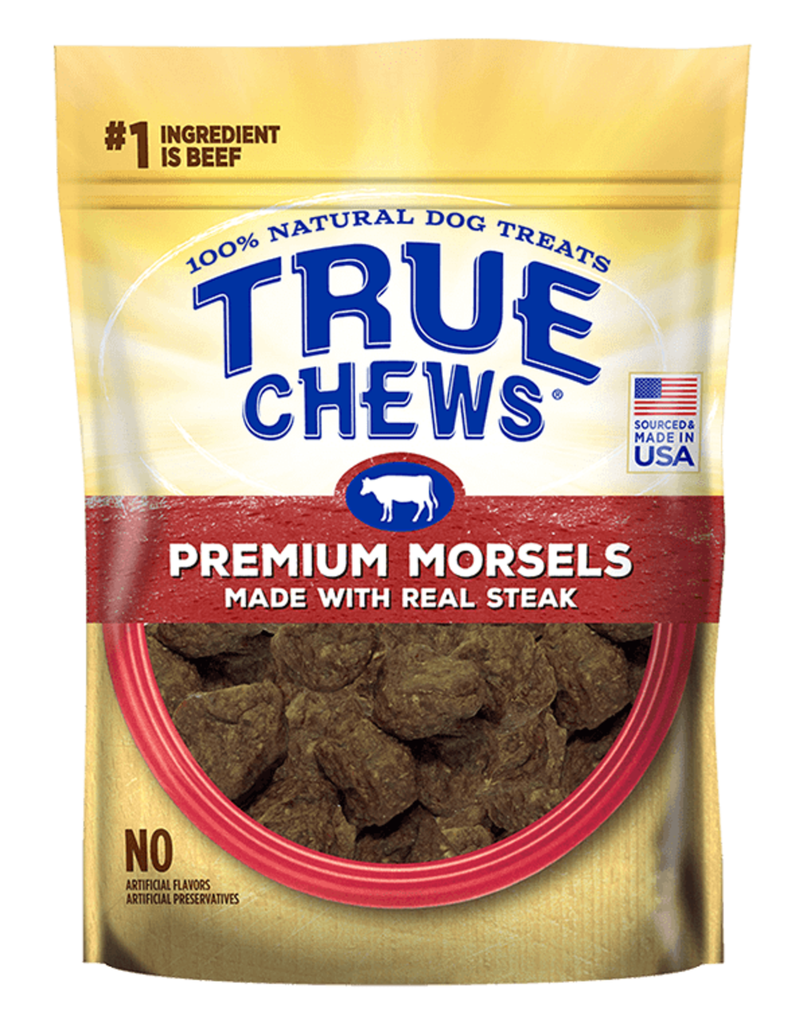 True Chews True Chews Premium Morsels: Steak, 10 oz