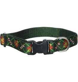 Lupine Lupine Santa's Treats Collar: 3/4 in wide, 9-14 inch