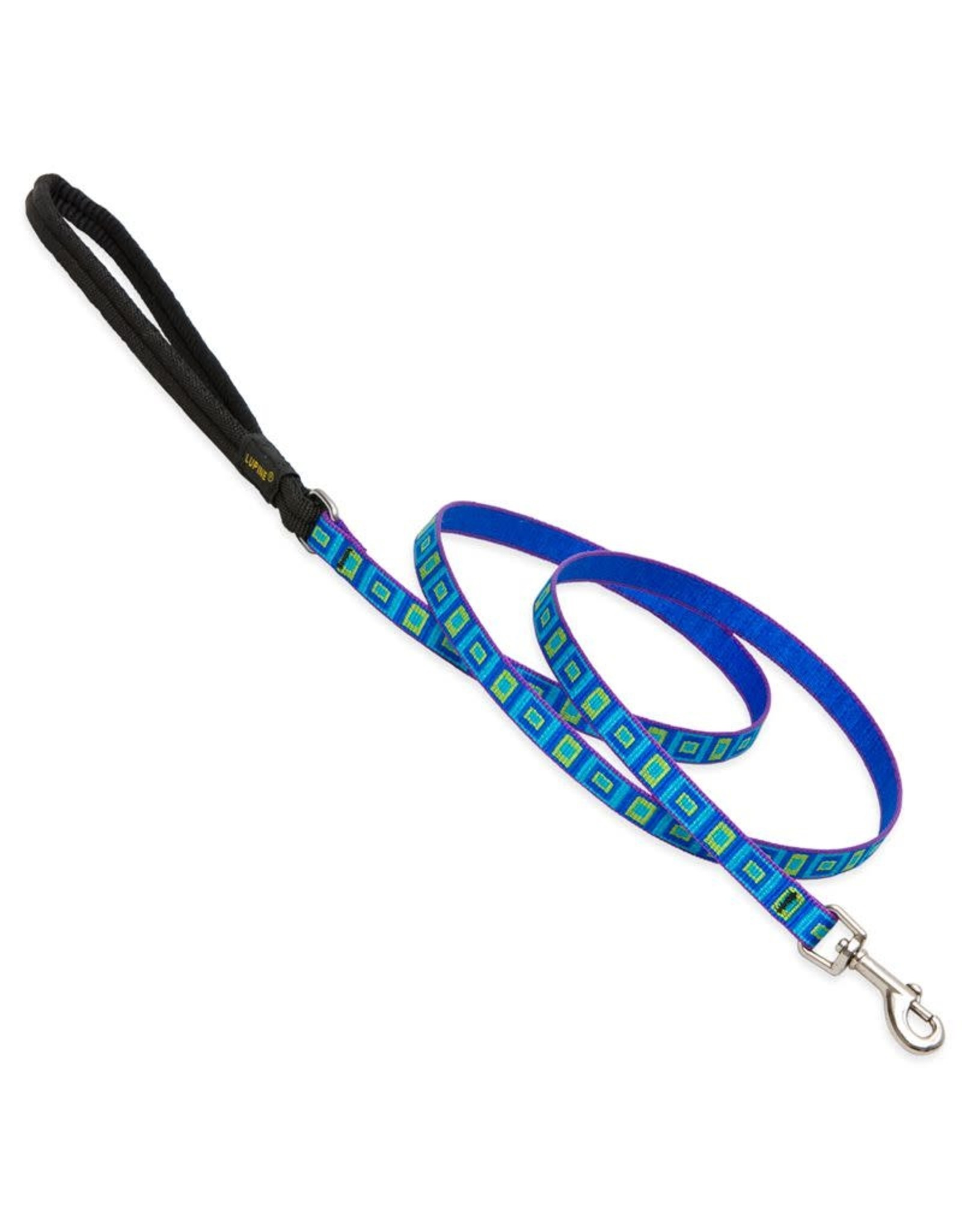 Lupine Lupine Sea Glass Leash: 1/2 in wide, 6 ft