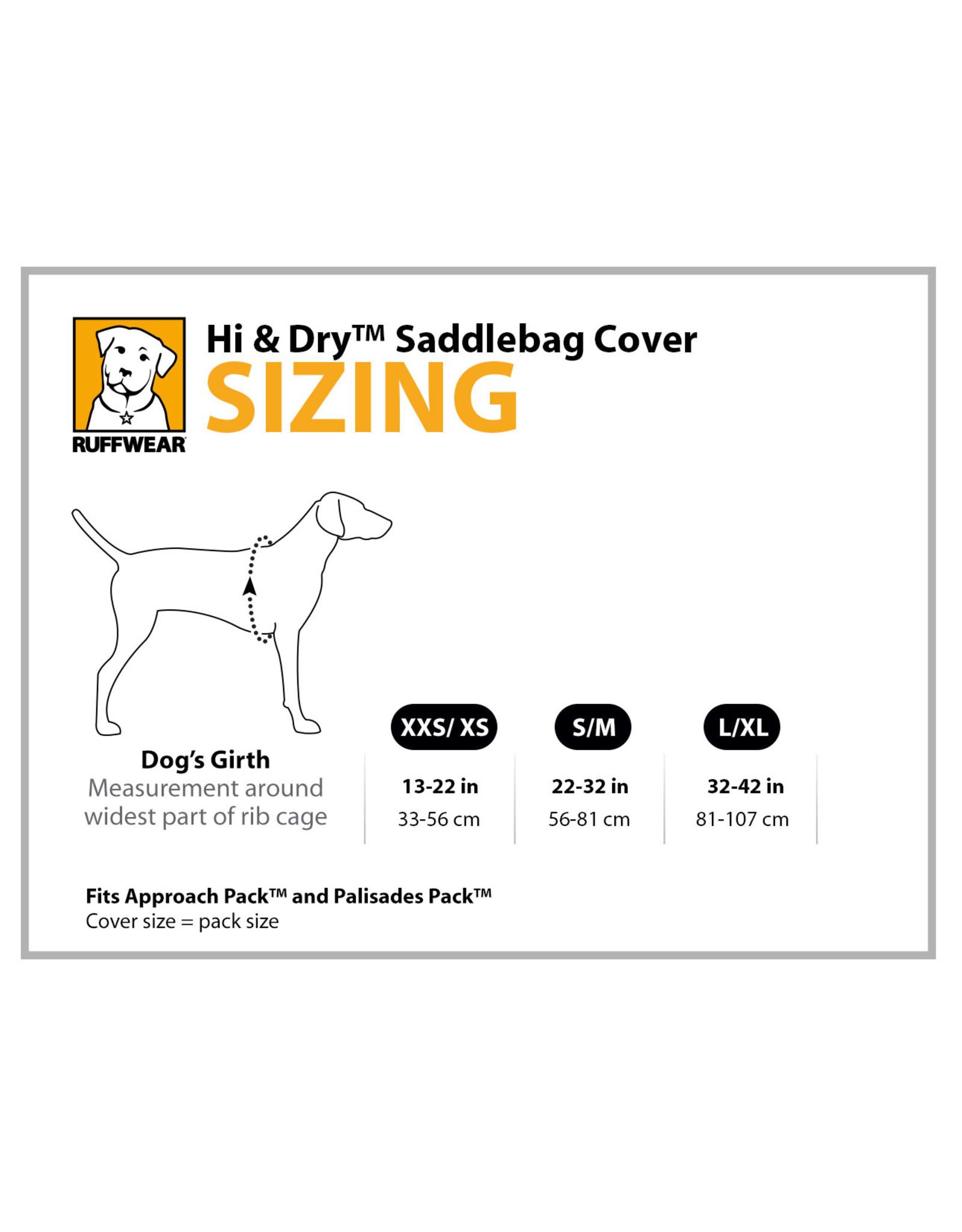 Hi & Dry Saddlebag Cover: Sunrise Yellow, S/M